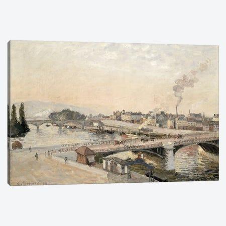 Boieldieu and Corneille bridges, 1898 Canvas Print #BMN4581} by Camille Pissarro Canvas Print
