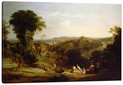 Villa of Lucullus at Misenum in the Bay of Naples Canvas Art Print