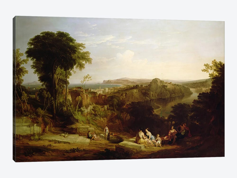 Villa of Lucullus at Misenum in the Bay of Naples by William Leighton Leitch 1-piece Canvas Art