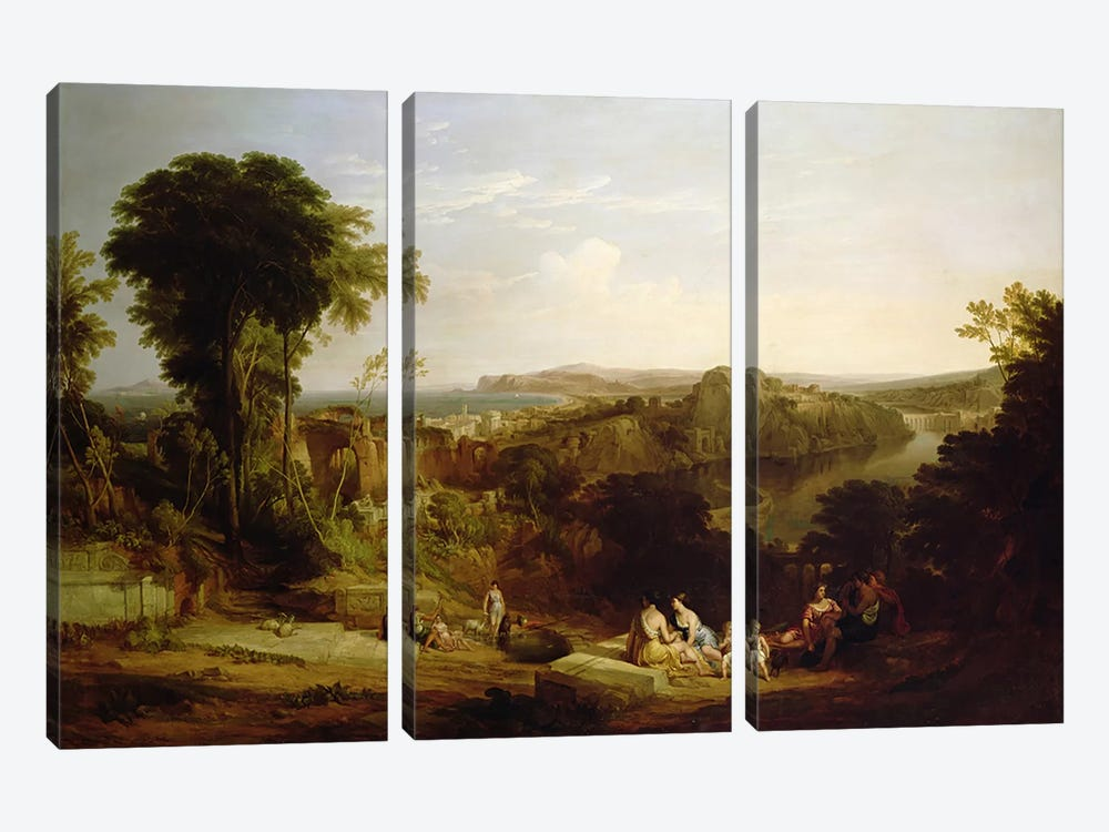 Villa of Lucullus at Misenum in the Bay of Naples by William Leighton Leitch 3-piece Canvas Artwork