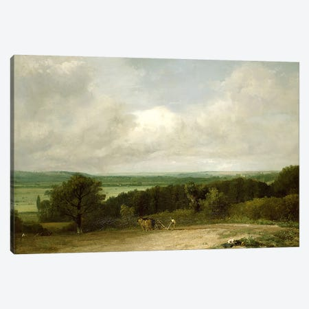 Wooded Landscape with a ploughman Canvas Print #BMN4584} by John Constable Canvas Wall Art