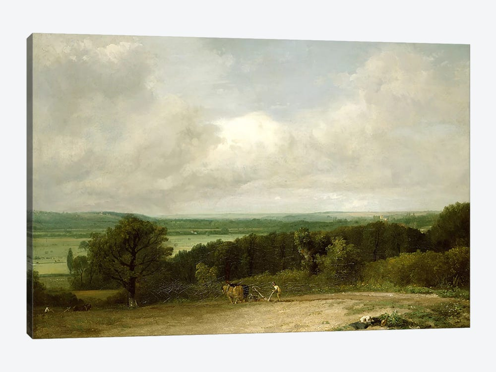 Wooded Landscape with a ploughman by John Constable 1-piece Canvas Print