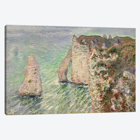 L'Aiguille and the Porte d'Aval, Etretat, 1886  Canvas Print #BMN4586} by Claude Monet Canvas Wall Art