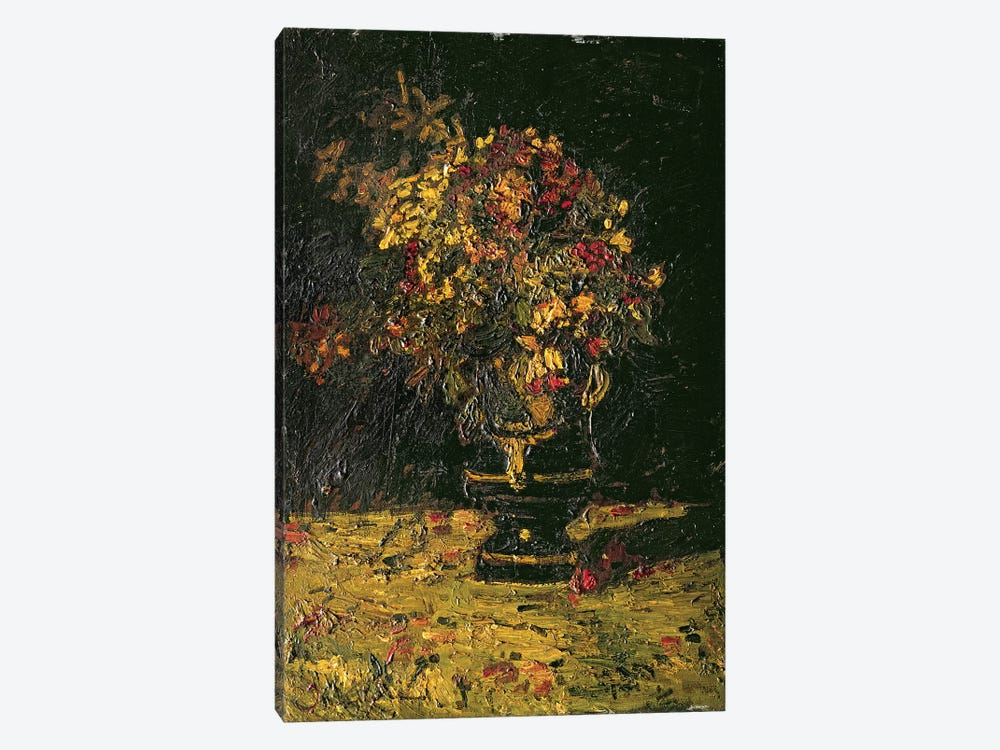 Vase of Flowers by Adolphe Joseph Thomas Monticelli 1-piece Canvas Art