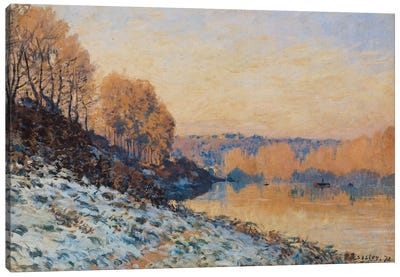 Port-Marly, White Frost, 1872  Canvas Art Print