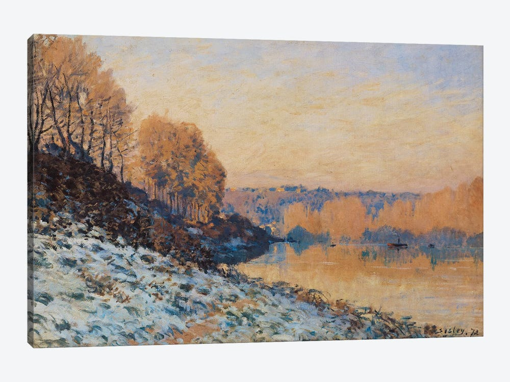 Port-Marly, White Frost, 1872  by Alfred Sisley 1-piece Canvas Print