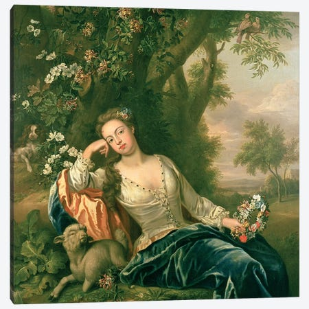 Portrait of Henrietta, Duchess of Bolton  Canvas Print #BMN4592} by James Francis Maubert Canvas Wall Art