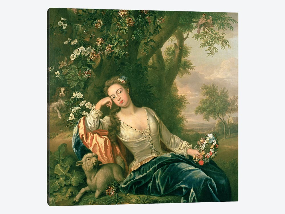 Portrait of Henrietta, Duchess of Bolton  by James Francis Maubert 1-piece Canvas Artwork