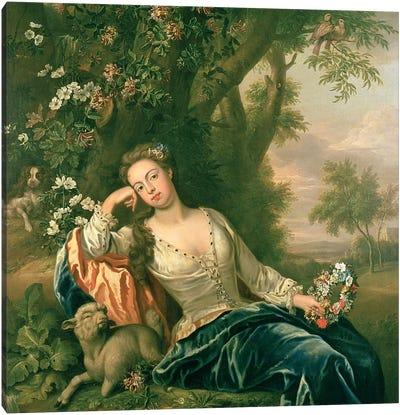 Portrait of Henrietta, Duchess of Bolton  Canvas Art Print