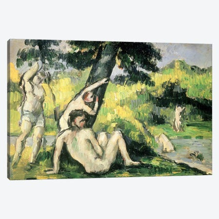 The Bathing Place  Canvas Print #BMN4594} by Paul Cezanne Canvas Art Print
