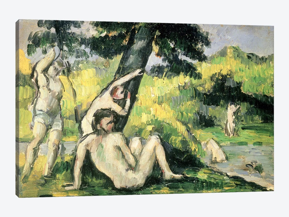 The Bathing Place  by Paul Cezanne 1-piece Canvas Art