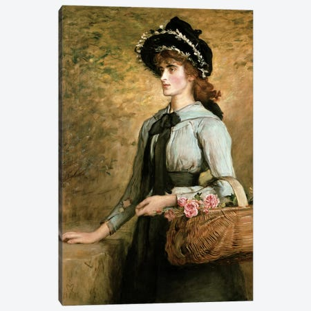 Sweet Emma Morland, 1892  Canvas Print #BMN4597} by Sir John Everett Millais Canvas Print
