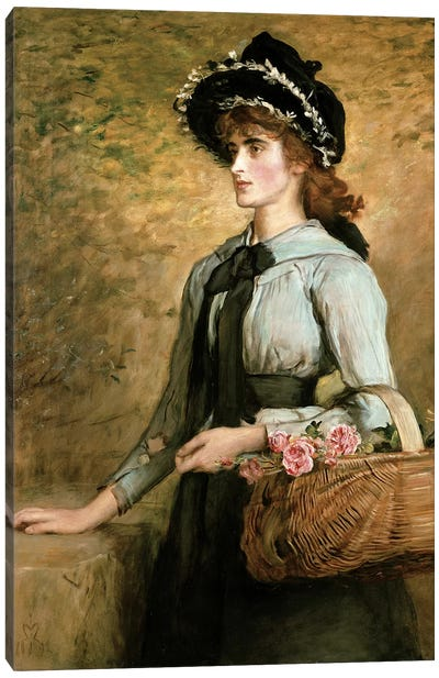 Sweet Emma Morland, 1892  Canvas Art Print