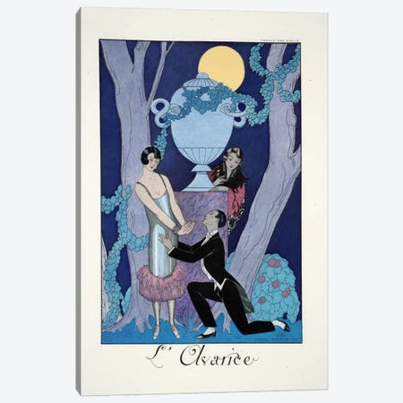 Avarice, from 'Falbalas & Fanfreluches, Almanach des Modes Présentes Canvas Print #BMN45} by Georges Barbier Canvas Print