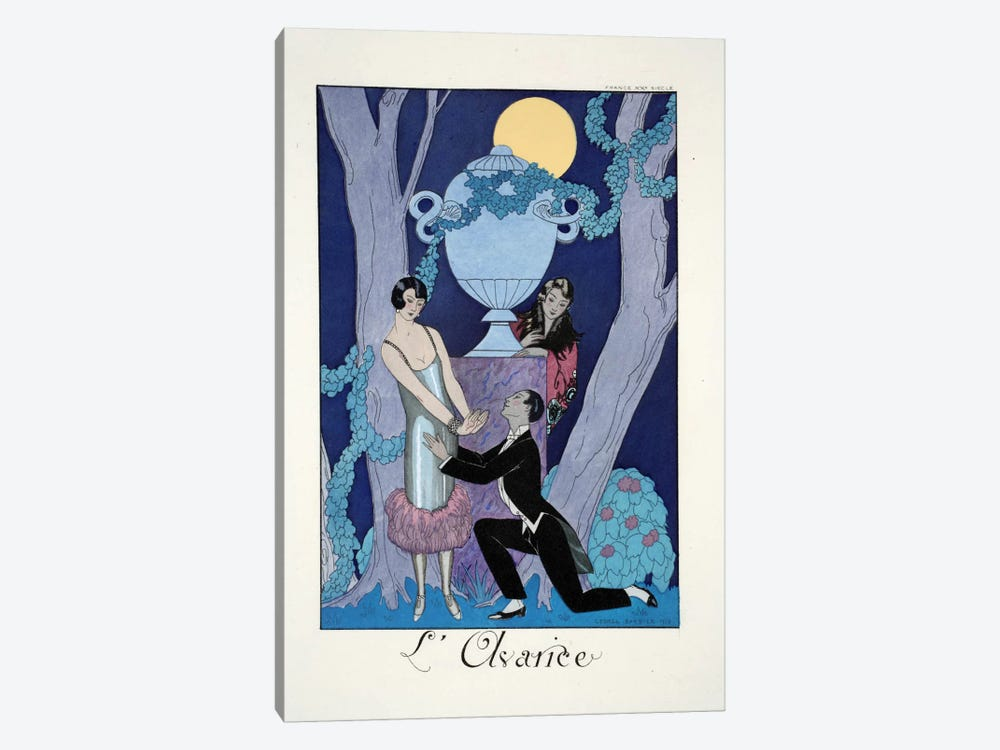 Avarice, from 'Falbalas & Fanfreluches, Almanach des Modes Présentes by Georges Barbier 1-piece Canvas Print