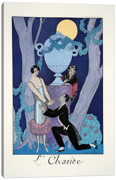 Avarice, from 'Falbalas & Fanfreluches, Almanach des Modes Présentes Canvas Art Print