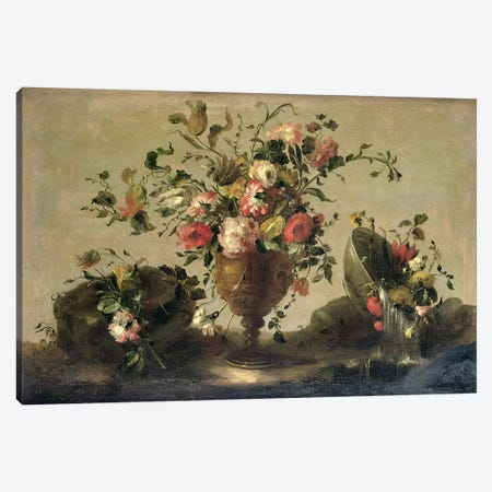 Mixed Flowers in a Gilt Goblet Canvas Print #BMN4601} by Francesco Guardi Canvas Artwork