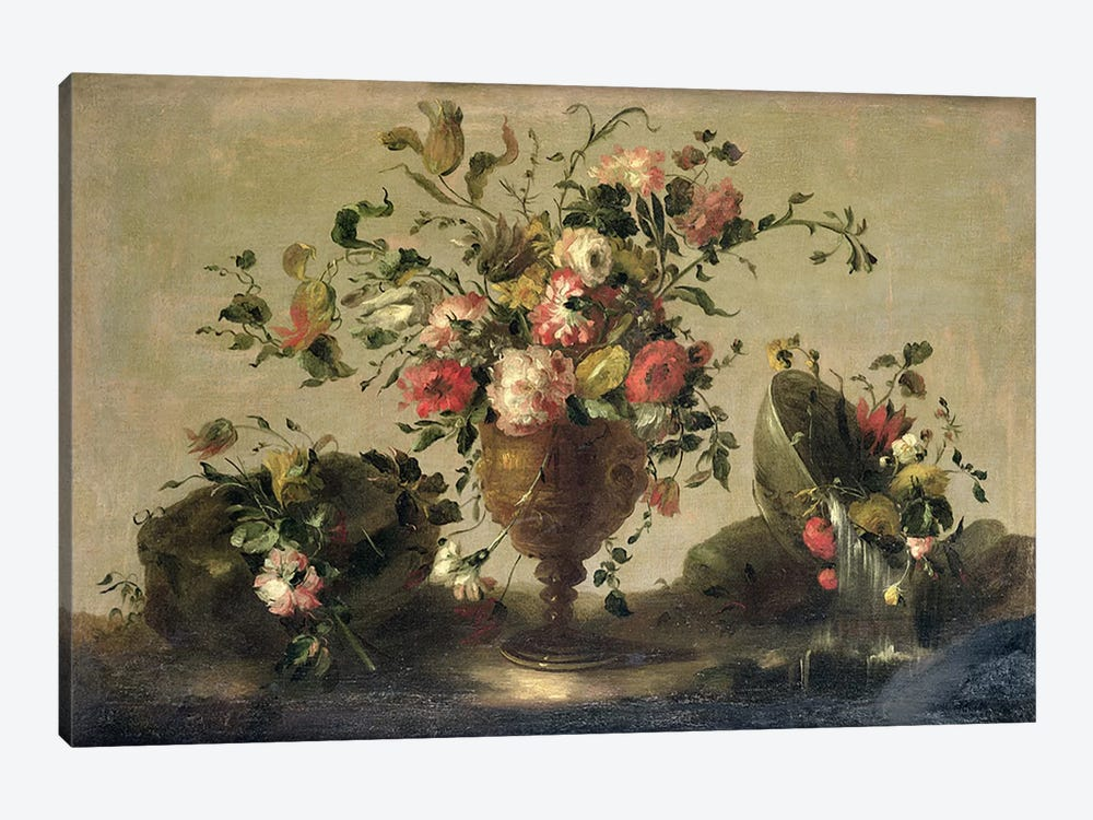 Mixed Flowers in a Gilt Goblet by Francesco Guardi 1-piece Canvas Artwork