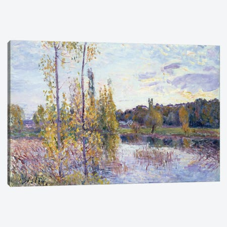 The Lake at Chevreuil 3-Piece Canvas #BMN4602} by Alfred Sisley Canvas Art