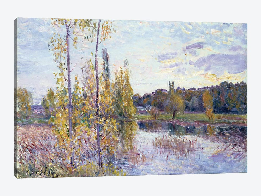 The Lake at Chevreuil by Alfred Sisley 1-piece Art Print