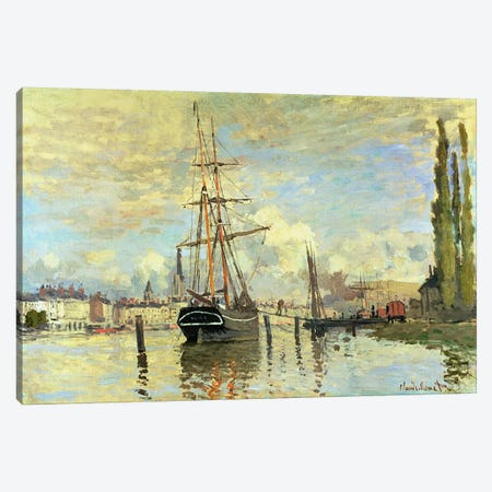 The Seine at Rouen, 1872  Canvas Print #BMN4613} by Claude Monet Art Print