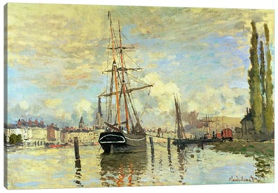 The Seine at Rouen, 1872  Canvas Print #BMN4613