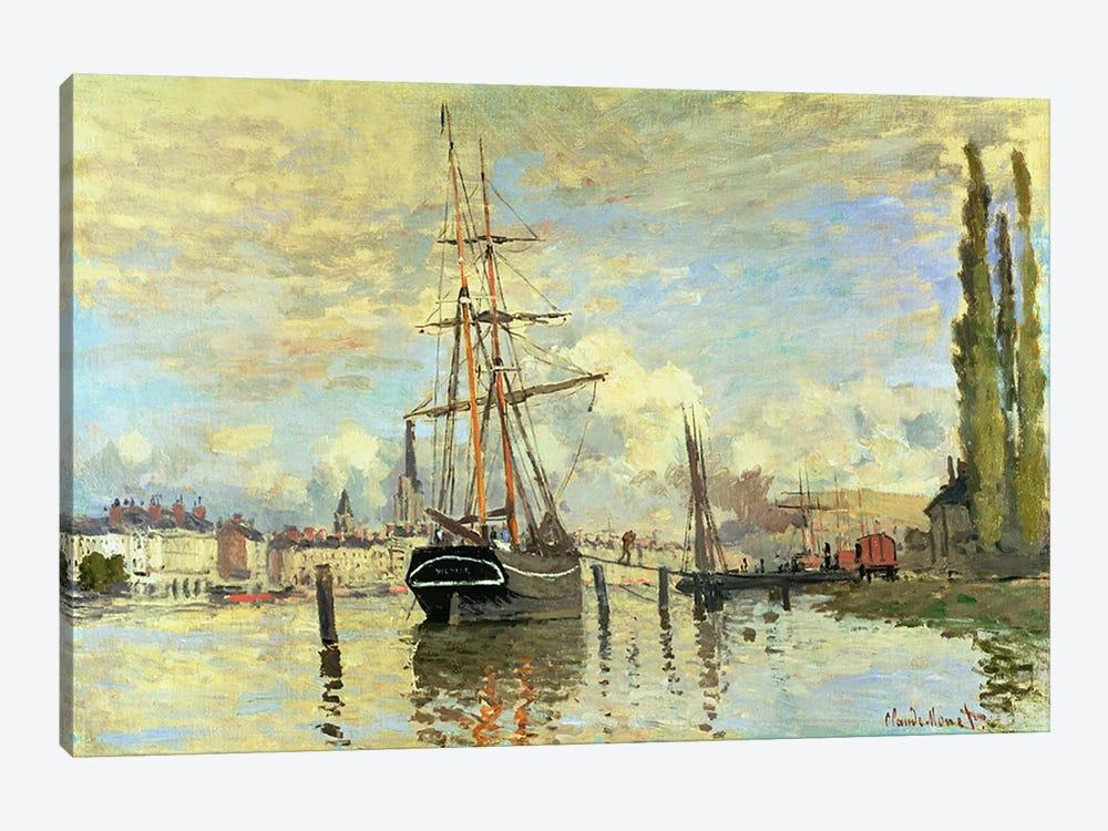 The Seine at Rouen, 1872  by Claude Monet 1-piece Art Print