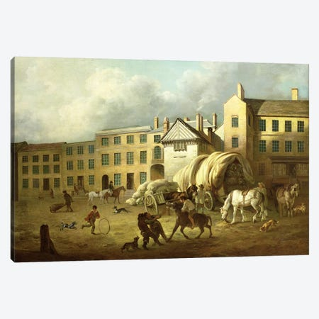 A Town Scene Canvas Print #BMN4614} by George Garrard Canvas Artwork