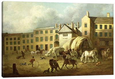 A Town Scene Canvas Art Print