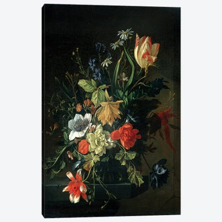 Still Life of Flowers Canvas Print #BMN4615} by Elias van den Broeck Canvas Art