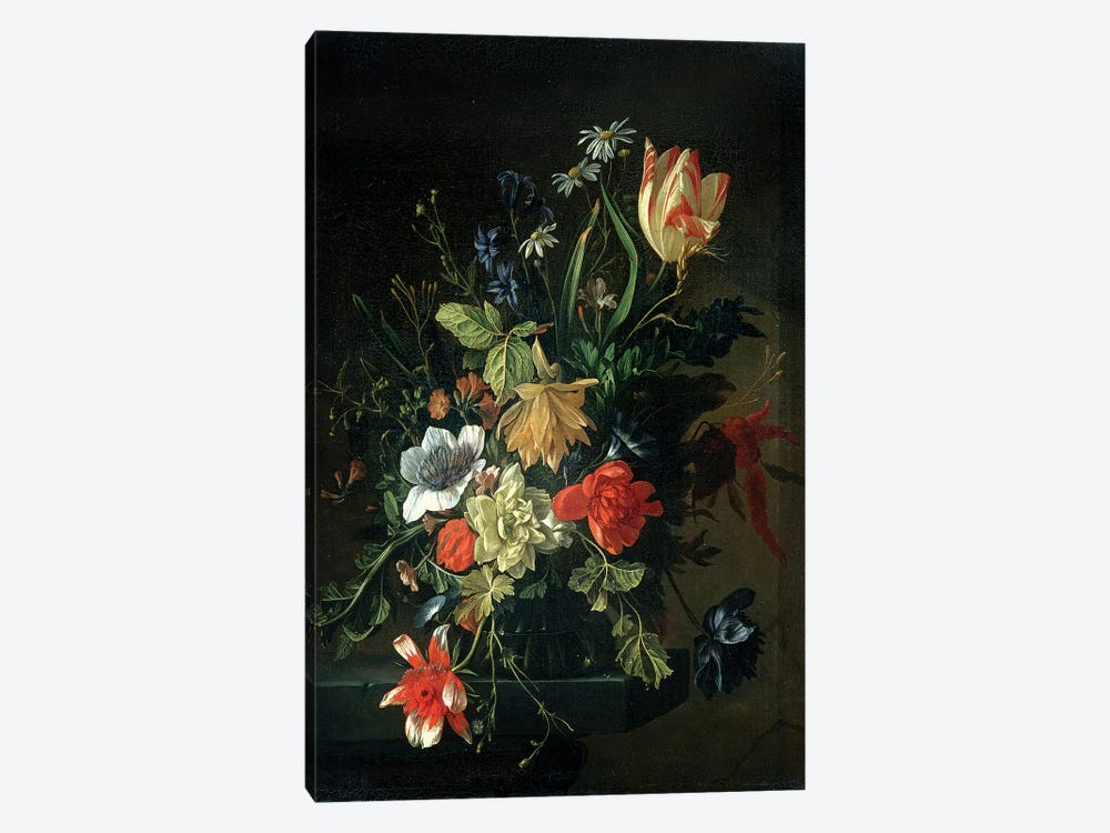 Still Life of Flowers by Elias van den Broeck 1-piece Canvas Art Print