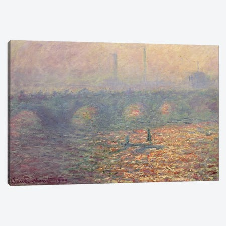 Waterloo Bridge, 1900 Canvas Print #BMN4616} by Claude Monet Canvas Artwork