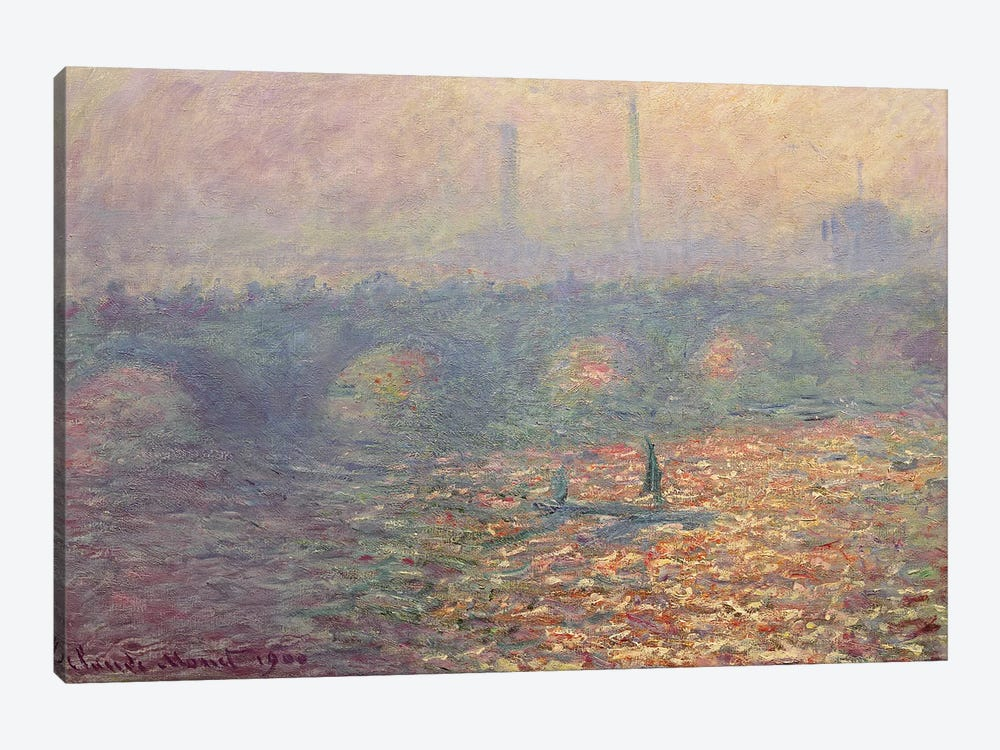 Waterloo Bridge, 1900 by Claude Monet 1-piece Canvas Art