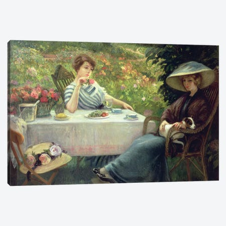Tea Time Canvas Print #BMN4619} by Jacques Jourdan Canvas Art Print