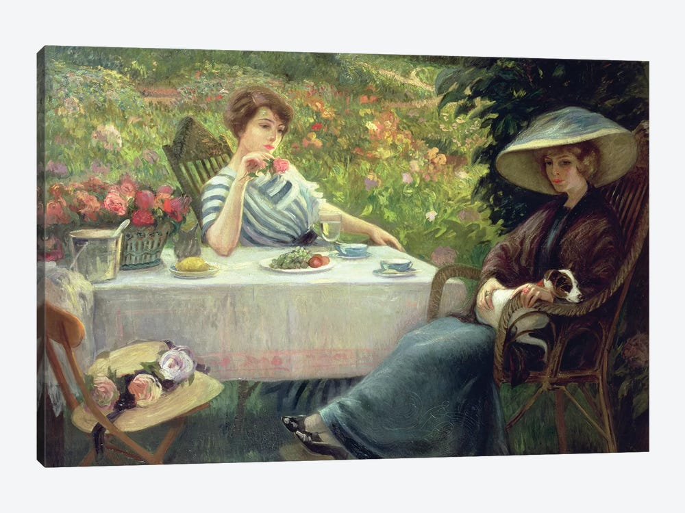 Tea Time by Jacques Jourdan 1-piece Canvas Art Print