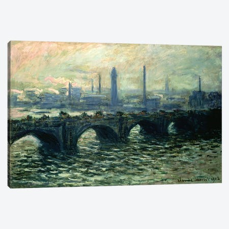 Waterloo Bridge, 1902 Canvas Print #BMN4621} by Claude Monet Canvas Wall Art