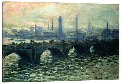 Waterloo Bridge, 1902 Canvas Print #BMN4621