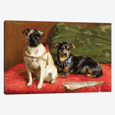 Pierette and Mifs, 1892 Canvas Print #BMN4624} by Charles van den Eycken Art Print