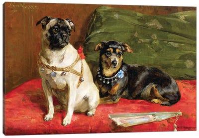 Pierette and Mifs, 1892 Canvas Art Print