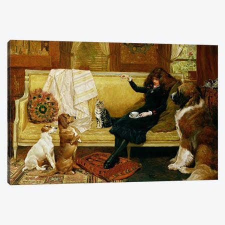 Teatime Treat, 1883 Canvas Print #BMN4625} by John Charlton Canvas Print