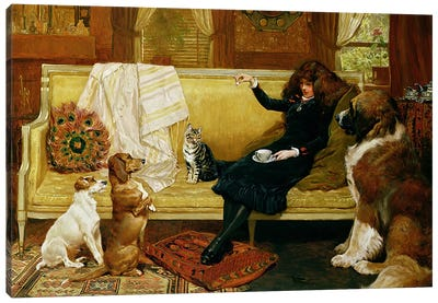 Teatime Treat, 1883 Canvas Art Print