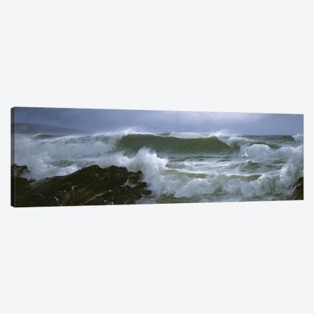 Rough Sea  Canvas Print #BMN4628} by David James Canvas Artwork