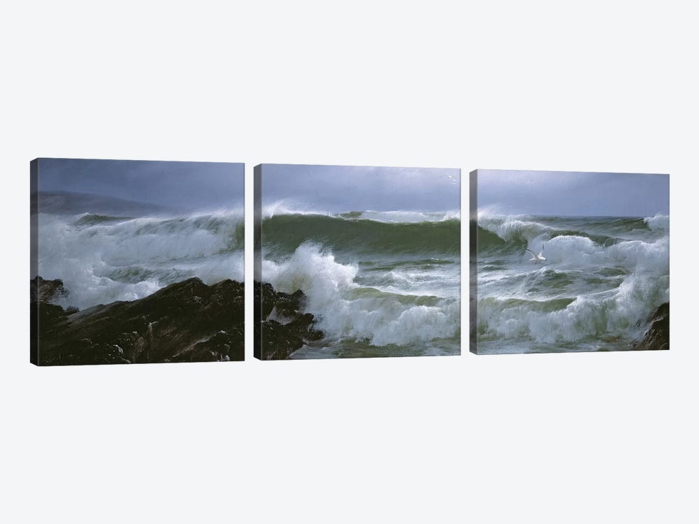 Rough Sea  by David James 3-piece Art Print