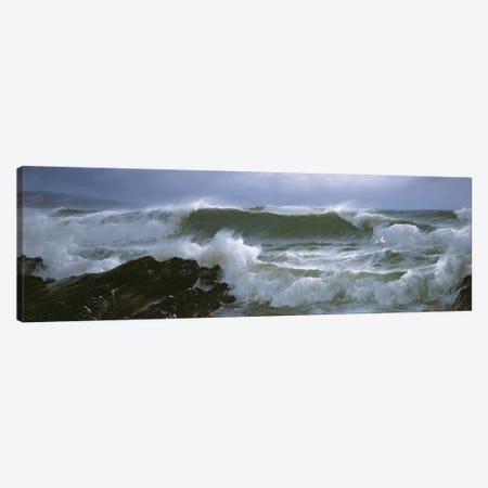 Rough Sea  Canvas Print #BMN4628} by David James Canvas Artwork
