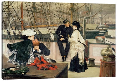 The Captain and the Mate, 1873  Canvas Art Print