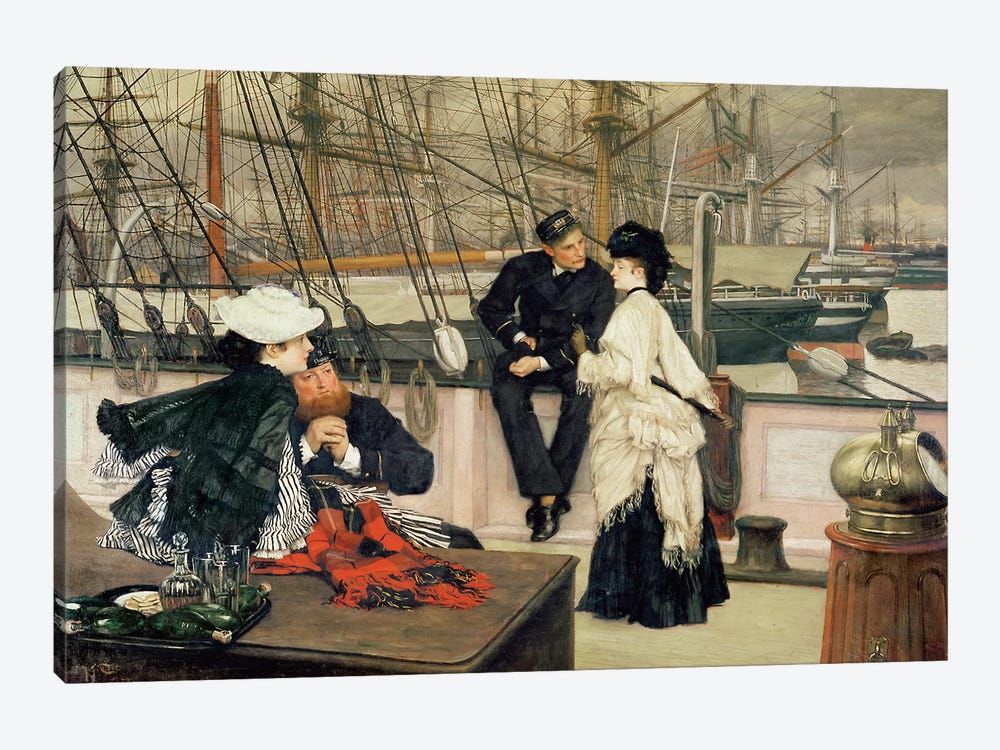 The Captain and the Mate, 1873  by James Jacques Joseph Tissot 1-piece Canvas Wall Art
