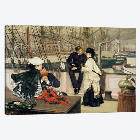 The Captain and the Mate, 1873  Canvas Print #BMN462} by James Jacques Joseph Tissot Canvas Wall Art
