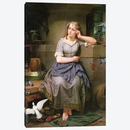 Cinderella and the Birds, 1868 Canvas Print #BMN4633} by English School Art Print