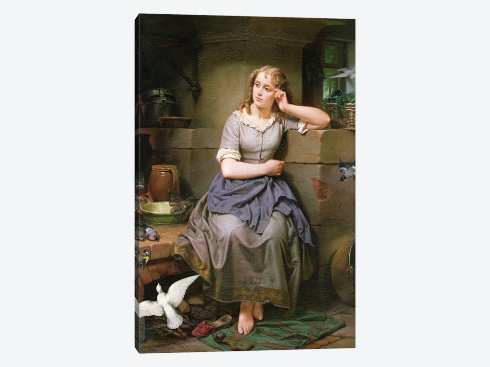 Cinderella and the Birds, 1868 by English School 1-piece Canvas Art Print