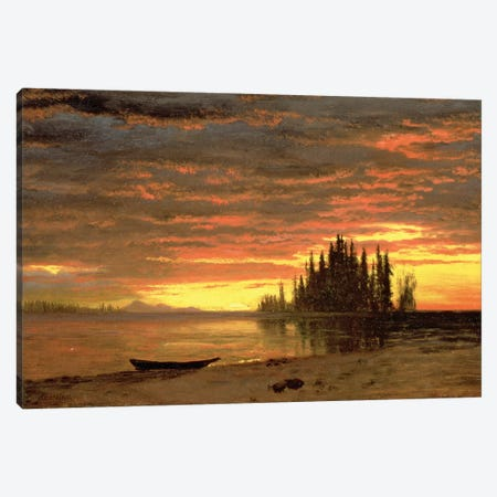 California Sunset  Canvas Print #BMN4636} by Albert Bierstadt Canvas Art